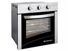Forno Elétrico de Embutir Continental FOECT060 - 66L Inox Funções Grill e Timer c/ Alarme Sonoro