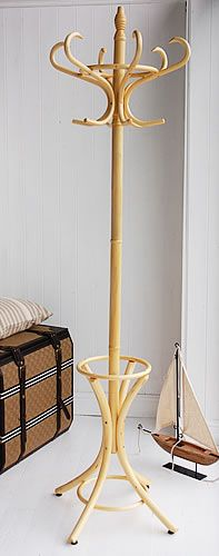 Wooden coat stands. A Bentwood traditional hat and coat stand