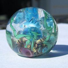 Underwater lampwork bead.