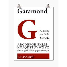 Garamond,30X40 från Wallstuff – Köp online på Rum21.se