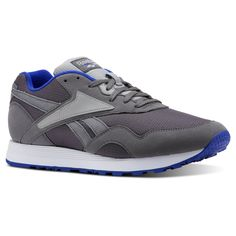0b267a0439ec Reebok Shoes Unisex Rapide in Shark Tin Grey Blue Size M 10.5   W 12 -  Retro Running Shoes
