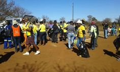 #Mandela Day Department of agriculture and rural development at Hekpoort for clean-up campaign with Lethabong community members