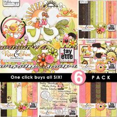 Available for just $6 during Pickleberrypop's Pickle Barrel Promo PLUS get a FREEBIE with your Purchase! Shop fast - the Pickle Barrel closes promptly at 11:59 p.m. EDT on Monday, March 24  Rise & Shine ~ 6-Pack PLUS FWP by Fayette Designs