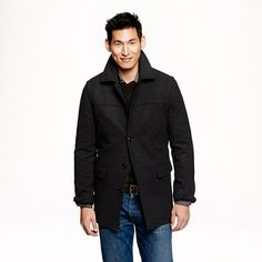 Our version of the all-weather classic is crafted in ultrasoft wool, with a quilted lining and pockets aplenty, including authentic kissing welt pockets and exterior handwarmer pockets. The lofty finish makes it extra warm, while old-school styling ensures that you'll feel like the big man on (and off) campus. <ul><li>Wool.</li><li>Flap pockets, interior flap pocket with button closure, interior welt pocket.</li><li>Functional buttons at cuffs.</li><li>Back yoke.</li><li>Lined.</li><li>Dry…