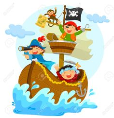 barco pirata dibujo animado - Recherche Google
