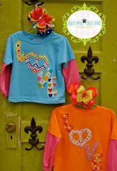 PEACE  LOVE  Valentine Shirt Applique Heart  by hotsietotsiebaby, $19.95