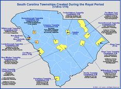 The Royal Colony of South Carolina - The Townships Established