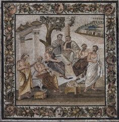 Mosaic depicting the Seven Sages