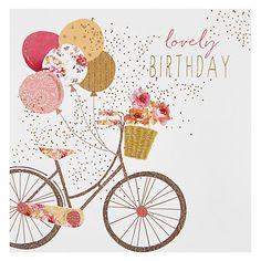 The 39 best birthday cards images on pinterest in 2018 bday cards buy portfolio bike birthday card online at johnlewis happy birthday bicycle happy birthday m4hsunfo
