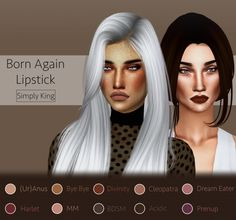 Born Again Lipstick at Simply King via Sims 4 Updates