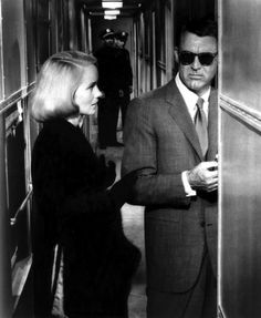 one of my favorite men....    Incognito.  Cary Grant, with Eva Marie Saint.