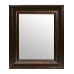 Dark Bronze Beveled Framed Mirror, 16x19   Kirklands