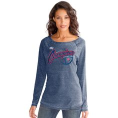 Chicago Cubs 2016 World Series Champions Long Sleeve Burnout  #ChicagoCubs #Cubs #FlyTheW #WorldSeries SportsWorldChicago.com