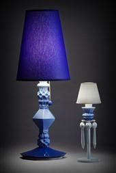 Belle de Nuit table lamp (blue)