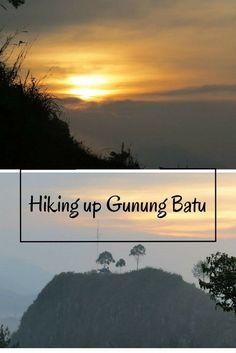 Hiking up Gunung Batu in Bandung, Indonesia.