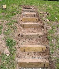 front yard landscaping ideas with rocks 8777045730 Landscape Stairs, Landscape Design, Garden Design, Landscape On A Slope, Landscape Architecture, Hillside Garden, Garden Paths, Sloping Garden, Garden Frogs