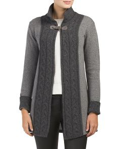 Made In Italy Wool Blend Cardigan