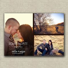Photo Collage Save the Date by twentythreeohone on Etsy, $13.00