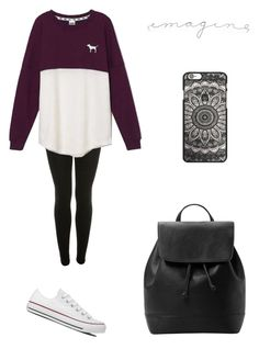 """Untitled #1748"" by ihavepashion-forfashion ❤ liked on Polyvore featuring Miss Selfridge, Victoria's Secret, Converse and MANGO"