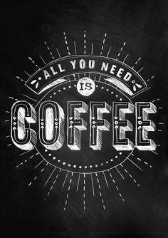 Une sélection de typographie spéciale Café !
