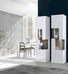 Credenza alta / moderna / in legno / in legno laccato VANITY Satarossa Design