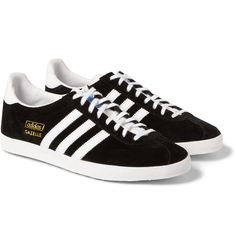 <a href='http://www.mrporter.com/Shop/Designers/Adidas_Originals'>adidas Originals</a> proves that simple design is enduring with these 'Gazelle OG' sneakers. Made from black suede and trimmed with white leather, this stark pair is effortlessly cool. Wear them to punctuate washed-out summer palettes or to update modern tailoring.