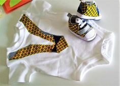 Combo Matching Baby Shirt & Shoes with African by VickArtDesigns