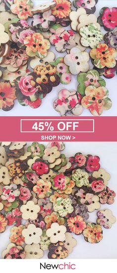 SOFO Flower Shaped Painted Plum Wooden Decoration Sewing Buttons is hot sale on Newchic. Button Art, Button Crafts, Sewing Hacks, Sewing Crafts, Sewing Tips, Craft Projects, Sewing Projects, Craft Ideas, Dorset Buttons