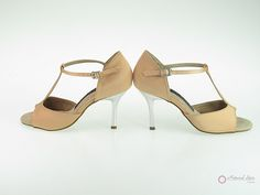 Natural Spin Signature Latin Shoes(Open Toe):  H1102-03_FleshJSa