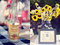 Save cider/other bottles to put cool decor in around the table/area