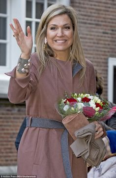 She went make-up free while attending engagements last week but Queen Maxima of The Nether...