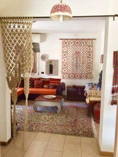 Macrame tenda living exotic room