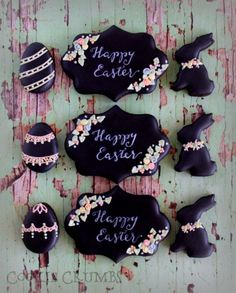 Chalkboard Easter Cookies | Cookie Connection