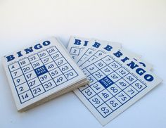 Vintage Bingo Cards Set of 38  With Free by MagellansBellyStudio, $6.00