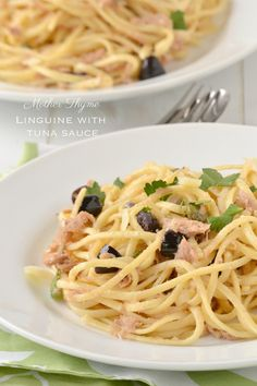 Linguine with Tuna Sauce | www.motherthyme.com
