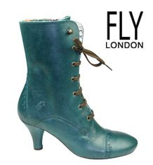 Fly London. Victoriana boot. Twist the style, twist the colour.