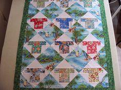 Bric-a-brac Quilter: Aloha Shirt Quilt   Ooo Crafty!   Pinterest ... : hawaiian shirt quilt pattern - Adamdwight.com