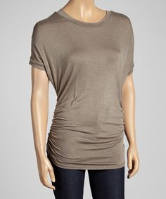 $17 Coco Ruched Dolman Top by sun n moon #zulily #zulilyfinds