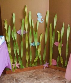 Under the Sea/ Mermaid Little Mermaid Party/Finding Nemo Party Little Mermaid Birthday, Little Mermaid Parties, The Little Mermaid, Festa Party, Luau Party, 4th Birthday Parties, Birthday Ideas, 5th Birthday, Mermaid Birthday Party Ideas