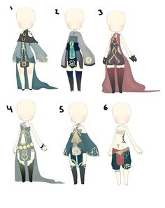earth sorceress inspired clothes adopt CLOSED by sounds-like-balloons on DeviantArt Character Design Challenge, Character Design Inspiration, Classy Outfits, Cool Outfits, Best Anime Drawings, Cute Fashion, Fashion Outfits, Chibi, Fantasy Anime