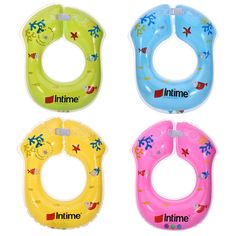 Summer Fashion Intime Brand Swimming Ring Double Independent Airbag Structure Inflatable Swimming Ring For Baby Neck Ring  #Affiliate