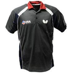 USA Table Tennis Team Shirt, Grey, Size: 2XS, Gray