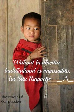 """In Buddhism, bodhicitta """"enlightenment-mind"""", is the mind that strives toward awakening and compassion for the benefit of all sentient beings."""