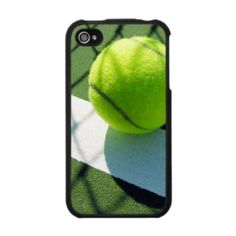 Tennis ball white line net iPhone cover case by scarletquill