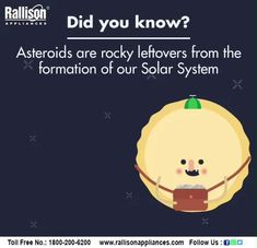#didyouknow #Facts #Asteroids #solarsystem #Rallisonappliances Our Solar System, Astrophysics, Interstellar, Space Shuttle, Telescope, Constellations, Astronomy, Nasa, Chemistry