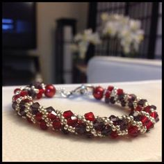 How to Make a Twisted Tubular Herringbone Bicone Bracelet #Seed #Bead #Tutorials