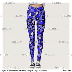 Shop Cupid's Love Hearts Pretty Purple Valentines Leggings created by LeonOziel. Cupid Love, Valentines Leggings, Leggings Fashion, Look Cool, Love Heart, Dressmaking, Pink Purple, Things That Bounce, Cool Designs