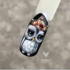 What you need to know about acrylic nails - My Nails Owl Nail Art, Owl Nails, Animal Nail Art, Xmas Nails, Cute Nail Art, Cute Nails, Christmas Nails, Minion Nails, Nail Art Modele