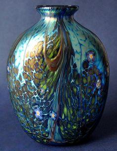 Richard Golding Station Glass Blue Flat-sided Forget-me-Not Vase http://www.bwthornton.co.uk/isle-of-wight-richard-golding-bath-aqua-glass.php