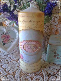 tutorialesmanualidades: vela decorada
